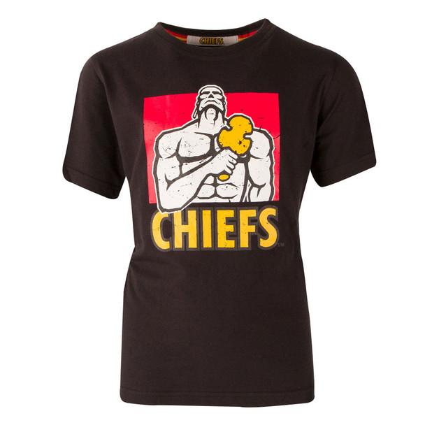 BrandCo kids chiefs super rugby tee shirt [black]