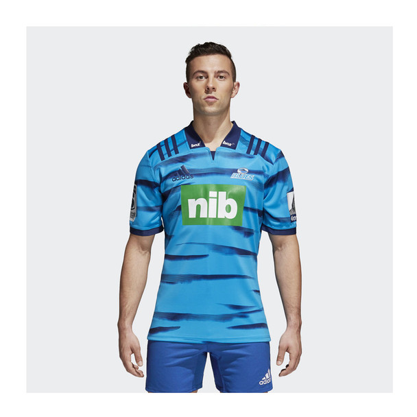 ADIDAS auckland blues home 2018 super rugby t-shirt [blue]