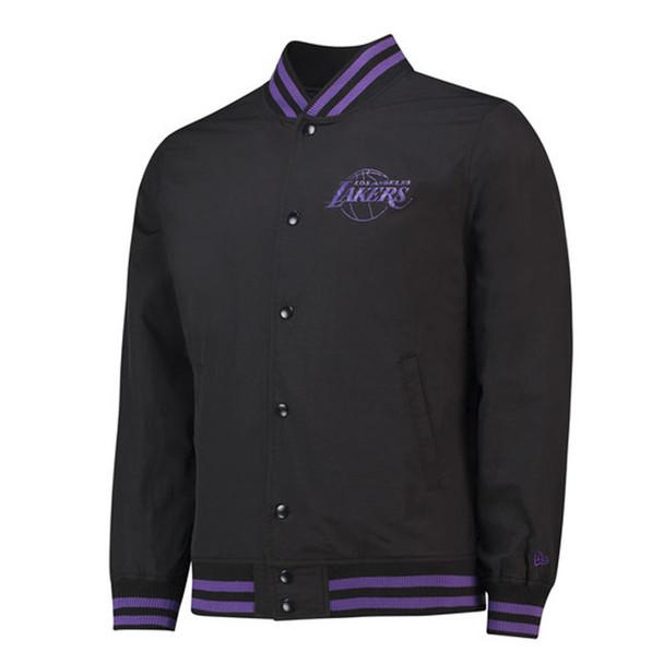 NEW ERA LA lakers NBA pop logo varsity jacket [black]
