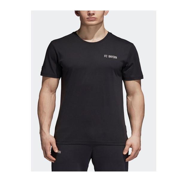 ADIDAS Mens FC Bayern Munich graphic tee shirt [black]