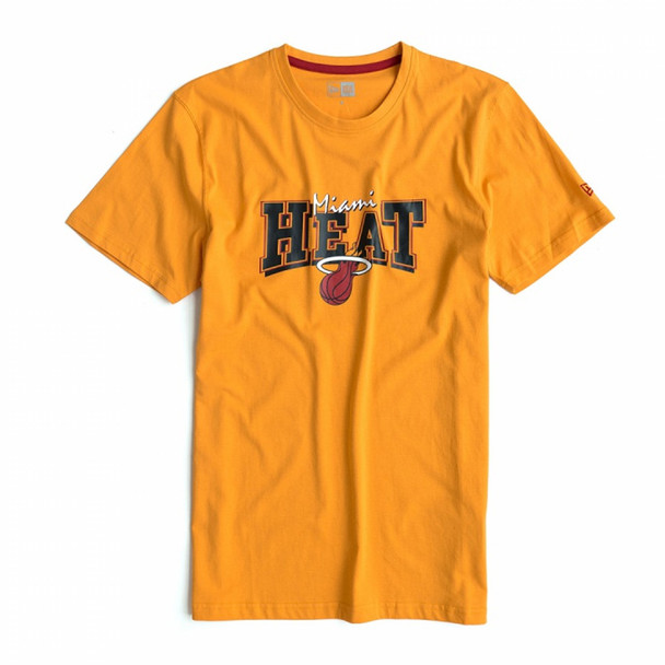 NEW ERA Miami Heat basketball cotton t-shirt [orange]
