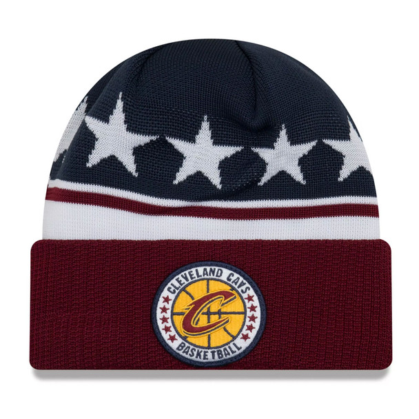 NEW ERA cleveland cavaliers NBA tip-off beanie hat [navy/burgandy/white]