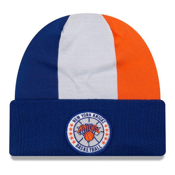 NEW ERA new york knicks NBA tip-off beanie hat [blue/white/orange]