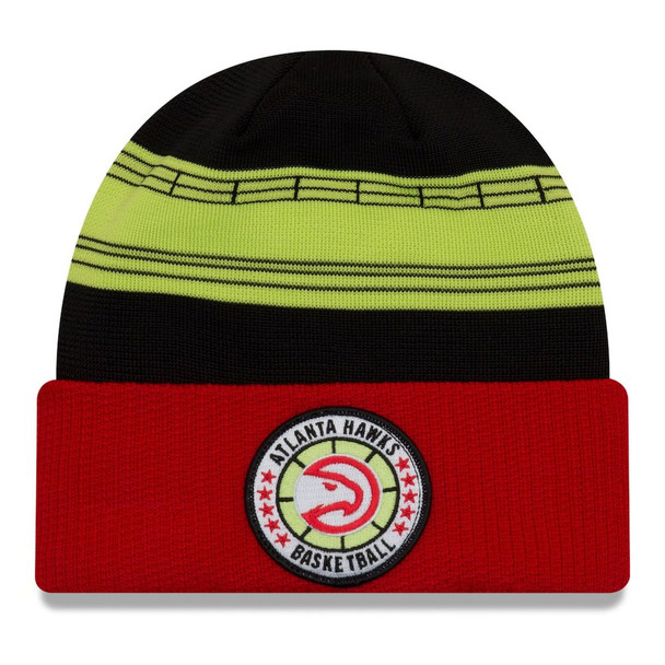 NEW ERA atlanta hawks NBA tip-off beanie hat [black/red/neon]