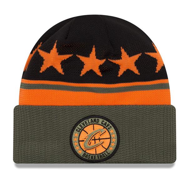 NEW ERA cleveland cavaliers NBA tip-off beanie hat [olive/black/orange]