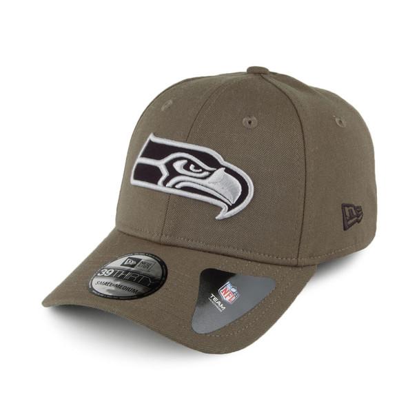 NEW ERA Seattle Seahawks 39Thirty Heather Essentials cap small/medium [olive]