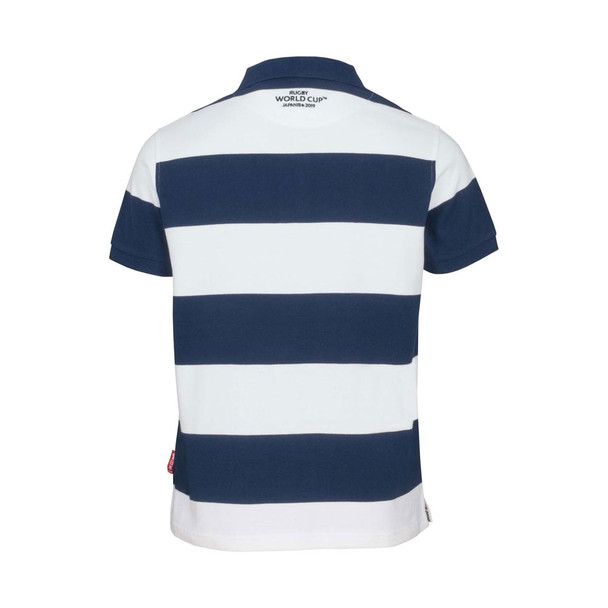 RWC 2019 Japan Mens Stripe Rugby Stripe Polo [navy/white]