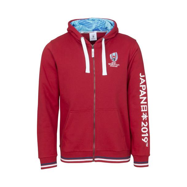 RWC 2019 Japan Mens Rugby Full Zip Hoodie [red]