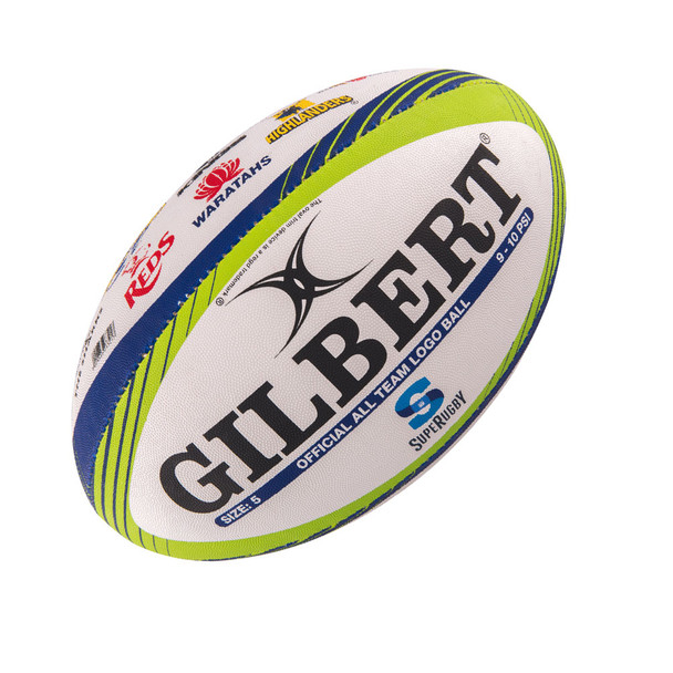 GILBERT Super Rugby team logo rugby ball size 5