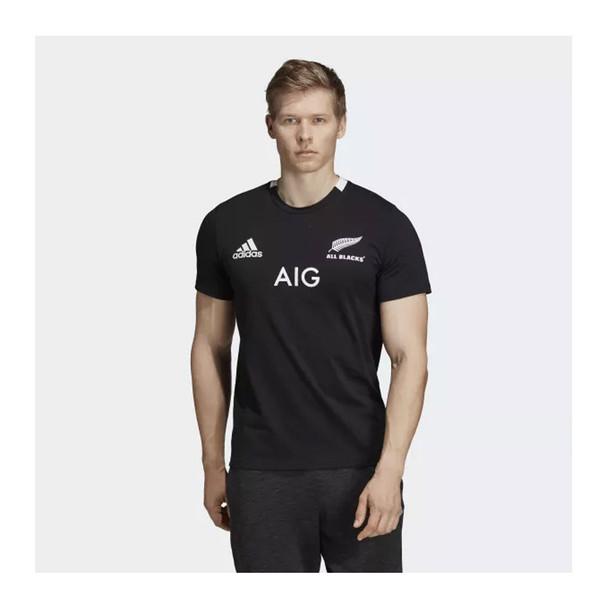 ADIDAS Mens rugby Home All Blacks Tee Shirt [black]