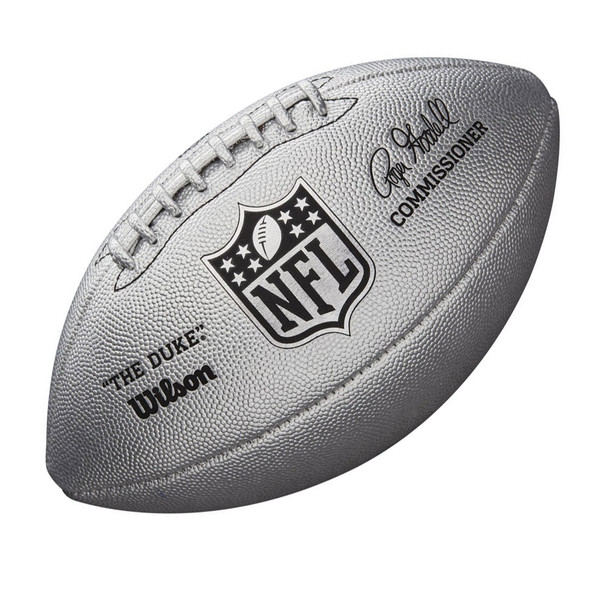 WILSON duke NFL metallic LTD ED american football [silver]