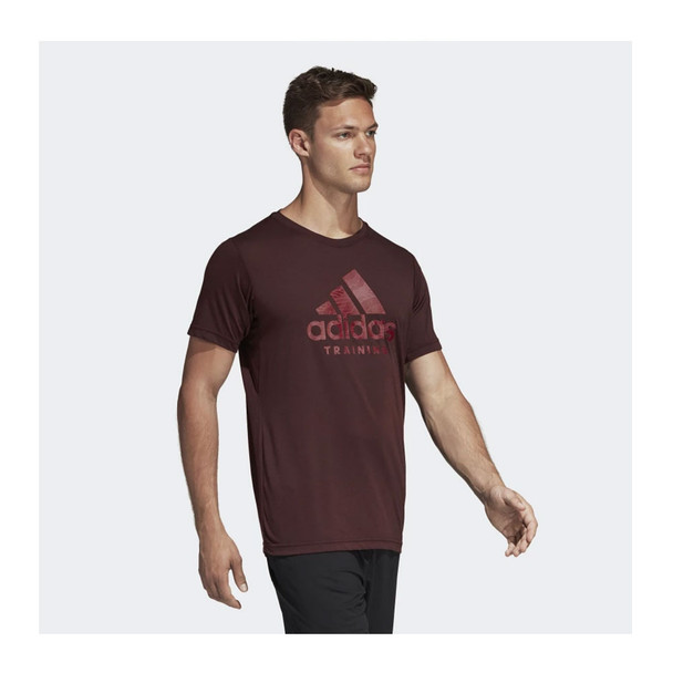 ADIDAS Freelift Logo Tee [night red]