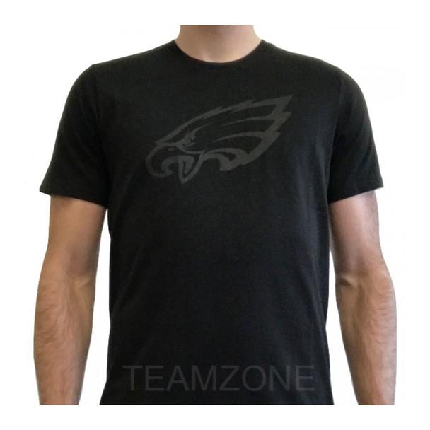 NEW ERA Philadelphia Eagles Tonal Black Logo NFL Tee Shirt [black]