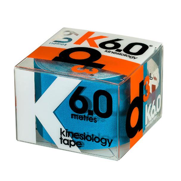 D3 kinesiology K6.0 tape (single) 50mm x 6m [blue]