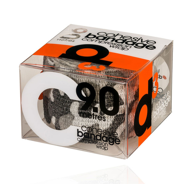 D3 cohesive bandage compression wrap tape (single) 50mm x 9m [grey camo]