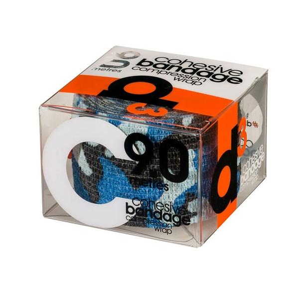 D3 cohesive bandage compression wrap tape (single) 50mm x 9m [blue camo]