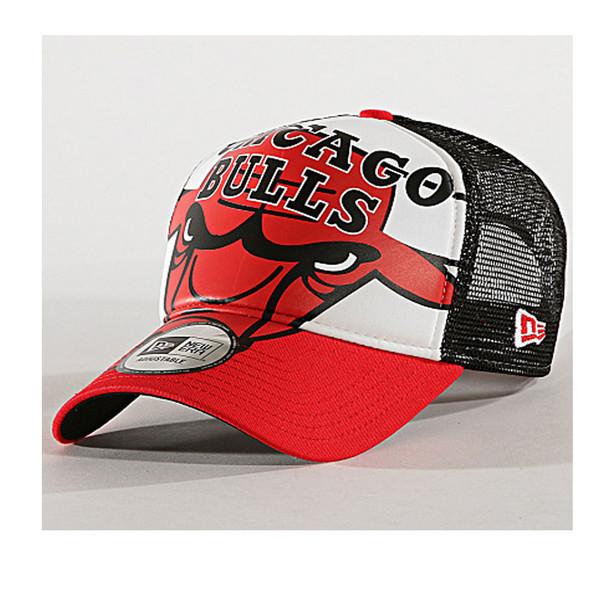 NEW ERA NBA Chicago Bulls Retro pack adjustable trucker cap [white/black/red]