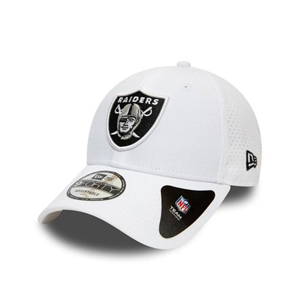 NEW ERA oakland raiders 9forty adjustable Poly Perf american football cap [white]