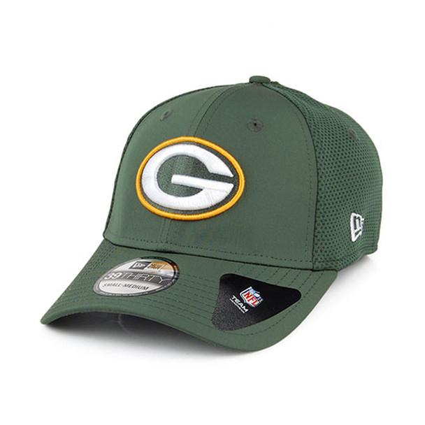 NEW ERA 39Thirty Green Bay Packers Baseball Cap NFL Featherweight Size Small/Medium[green]