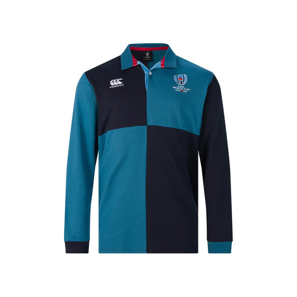 CCC Rugby World Cup 2019 Harlequin LS Shirt [navy/teal]