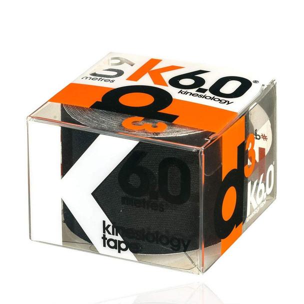 D3 kinesiology tape K6.0  (single) 50mm x 6m [black]