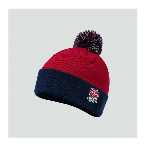 CCC England Rugby Acrylic Bobble Hat [chili pepper]