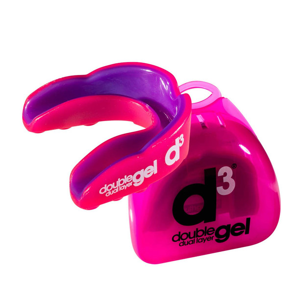 D3 double gel rugby mouthguard [pink] - Adult