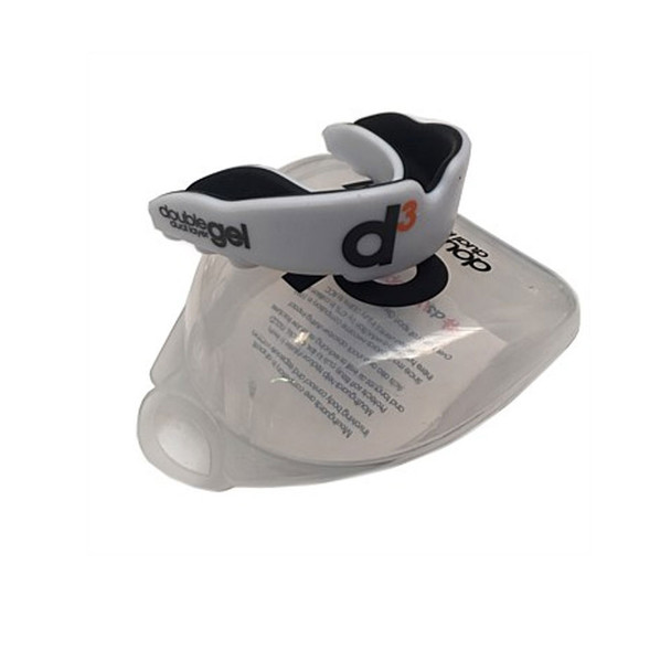 D3 double gel dual layer rugby mouthguard [white] - Adult