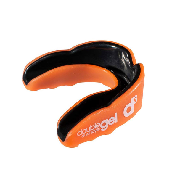 D3 double gel dual layer rugby mouthguard [orange] - Adult