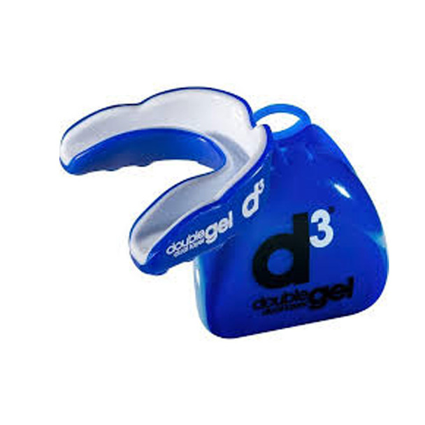 D3 double gel dual layer rugby mouthguard [blue] - Adult