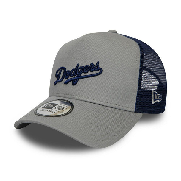 NEW ERA adjustable LA dodgers MLB trucker cap [navy/grey]