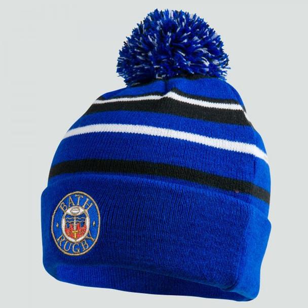 CCC bath rugby acrylic bobble hat [blue]