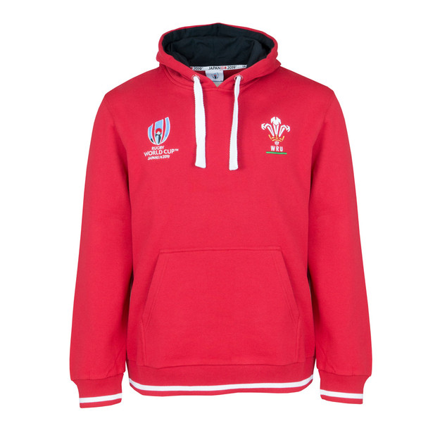 RWC 2019 Mens Wales Rugby Hooded Sweat [red]