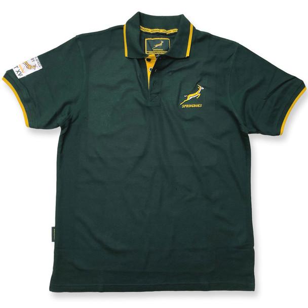 Brandco south africa springboks rugby pique polo [green]