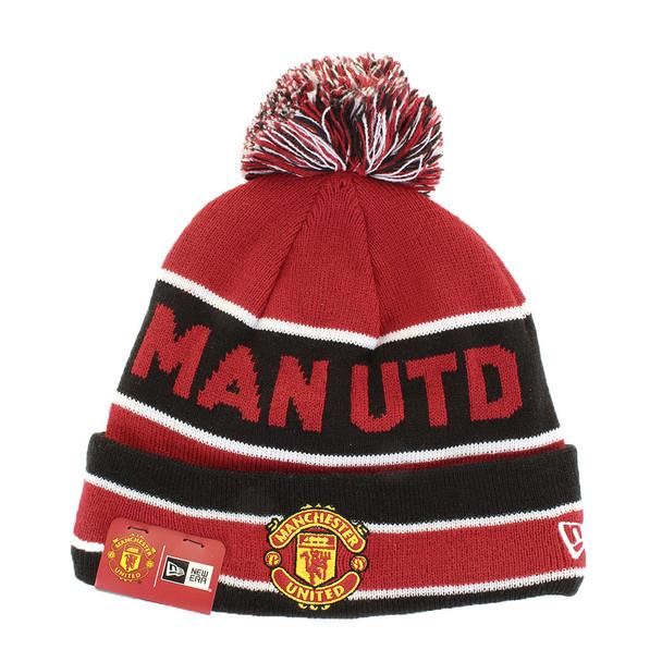 NEW ERA manchester united bobble Knit hat [black/red]