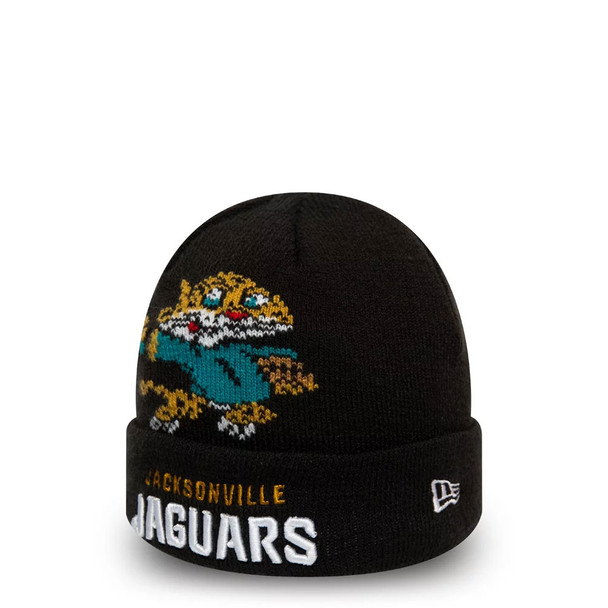 NEW ERA jacksonville jaguars NFL mascot kids cuff knit hat [black]