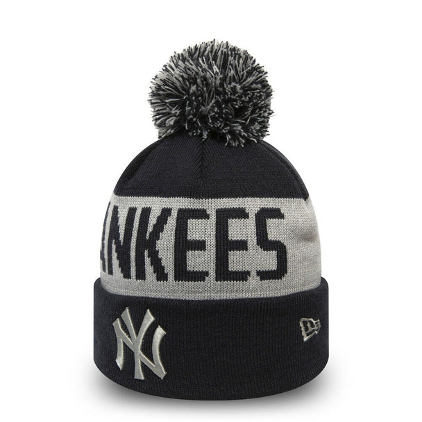 NEW ERA new york yankees team tonal knit hat [navy/grey]