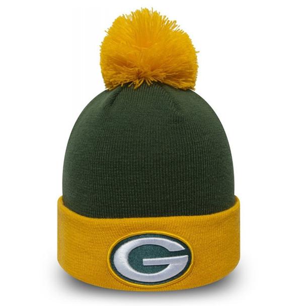 NEW ERA green bay packers pop team cuff knit hat [green/gold]
