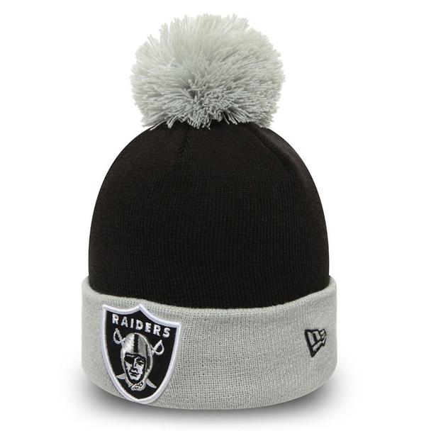 NEW ERA oakland raiders pop team cuff knit hat [black/grey]
