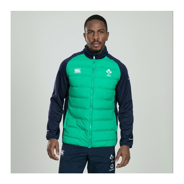 CCC Mens Ireland Rugby Thermoreg Hybrid Jacket [green/marl]