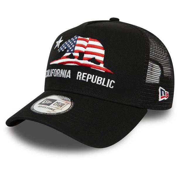 NEW ERA california republic adjustable trucker cap [black]
