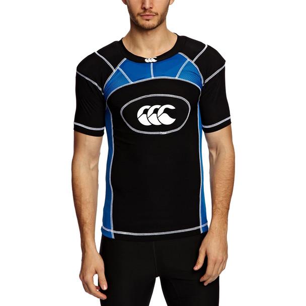 CCC tech vest plus shoulder pads junior [black/blue]