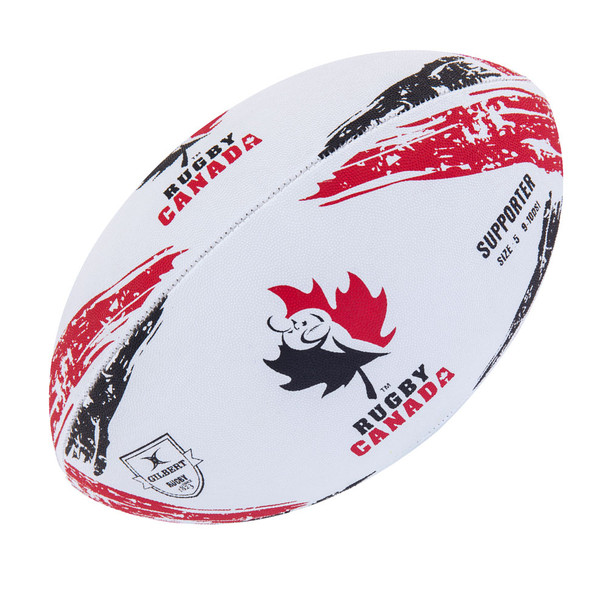 GILBERT canada supporters rugby ball [size 5]