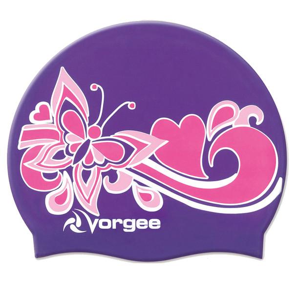 VORGEE miss glamour silicone swim cap [purple]