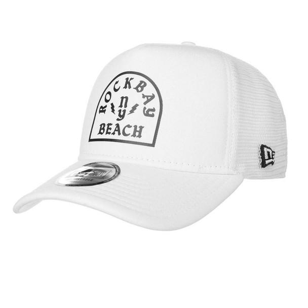 NEW ERA rockbay NY beach adjustable trucker cap [white]