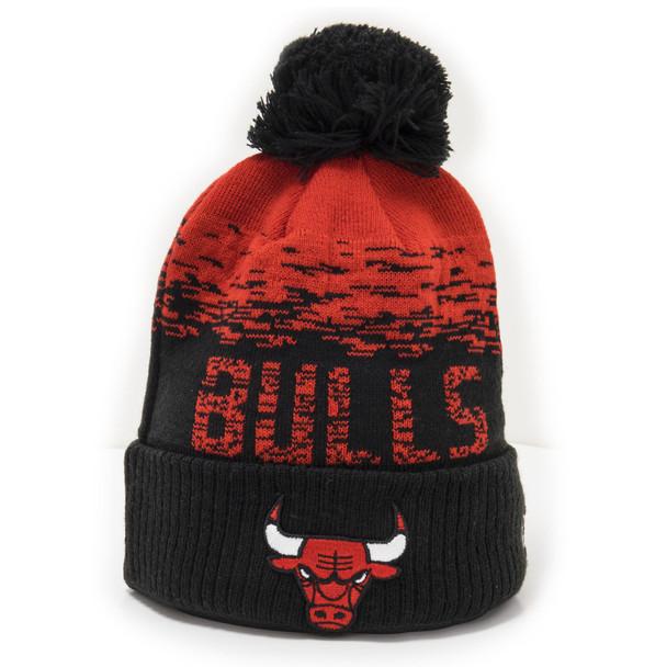 NEW ERA chicago bulls NBA sport knit hat [black/red]
