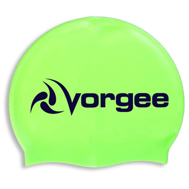 VORGEE supergrip logo silicone swim cap [green]