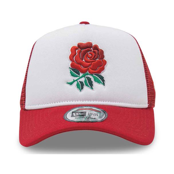 NEW ERA england rugby RFU adjustable trucker cap [white/red]