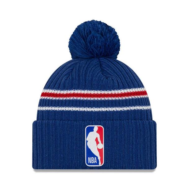 NEW ERA basketball NBA back half knit cuff bobble hat [royal]