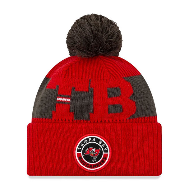NEW ERA tampa bay buccaneers NFL sport knit bobble beanie hat [red/grey]